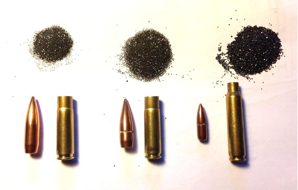 300AAC Blackout - Confronto dosi polvere