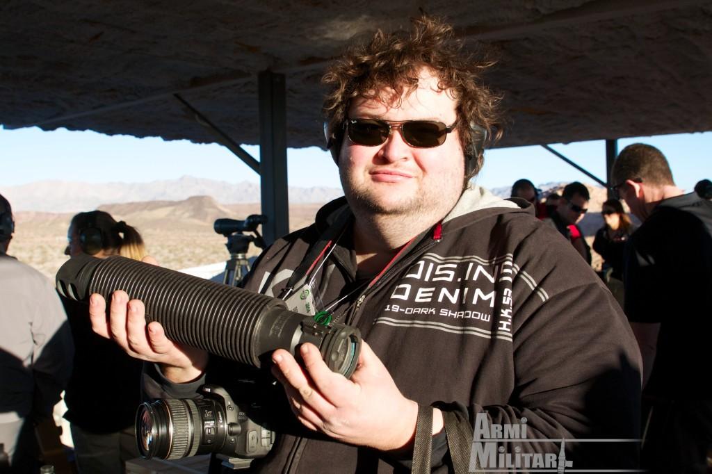 SHOT Show 2014 - Media Day Preview - Barret M105 soppressore acustico