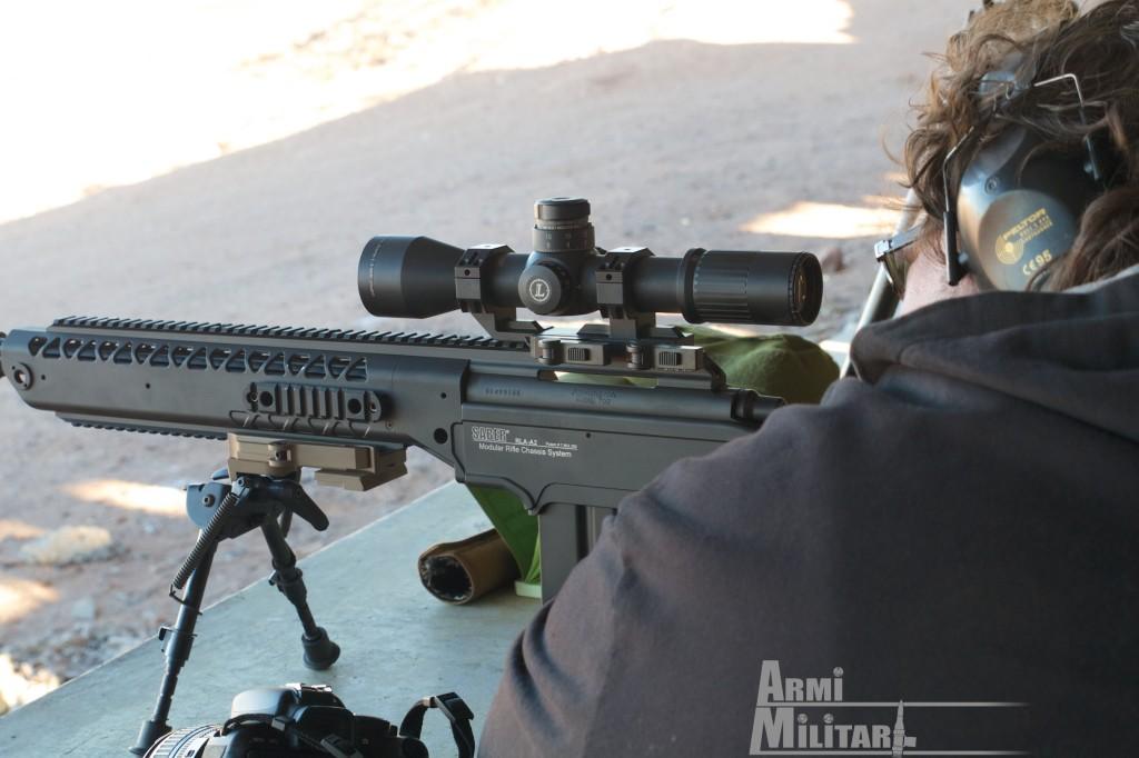 SHOT Show 2014 - Media Day Preview - Saber RLA-A2 su azione Remington 700