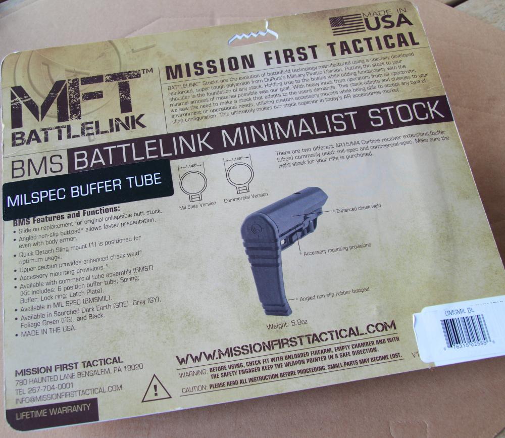 MFT BMS - Retro confezione con le informazioni