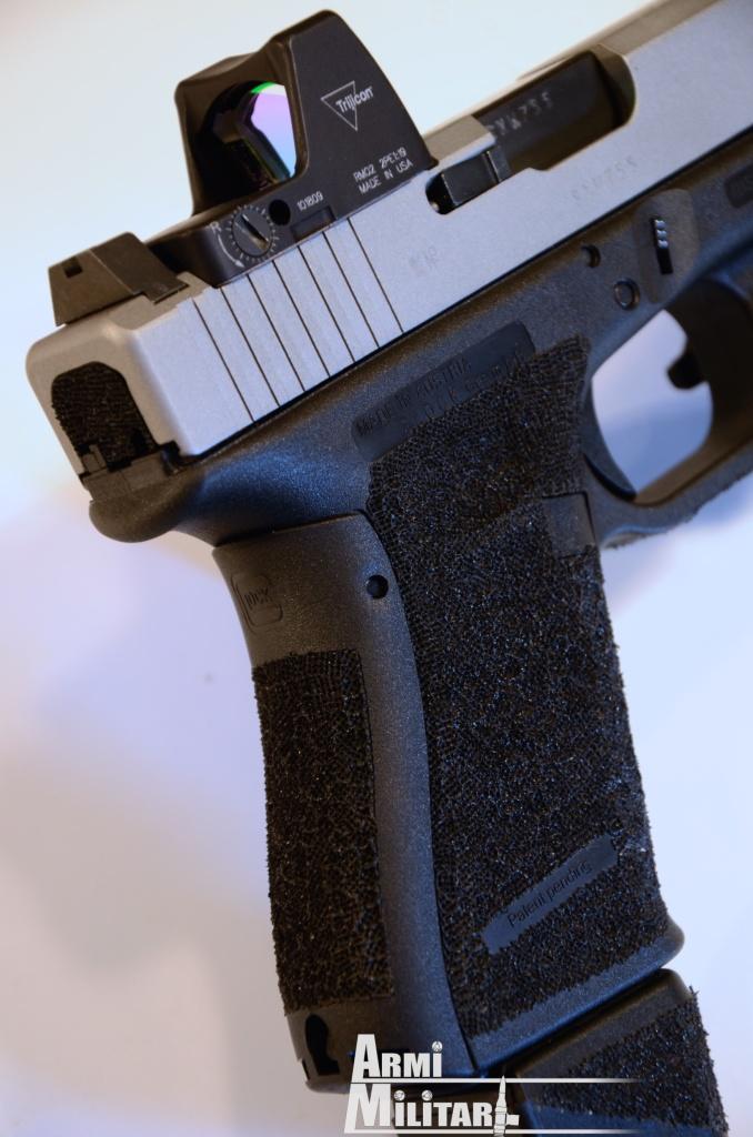 G19 RV - Particolare della fresatura per l'ottica.