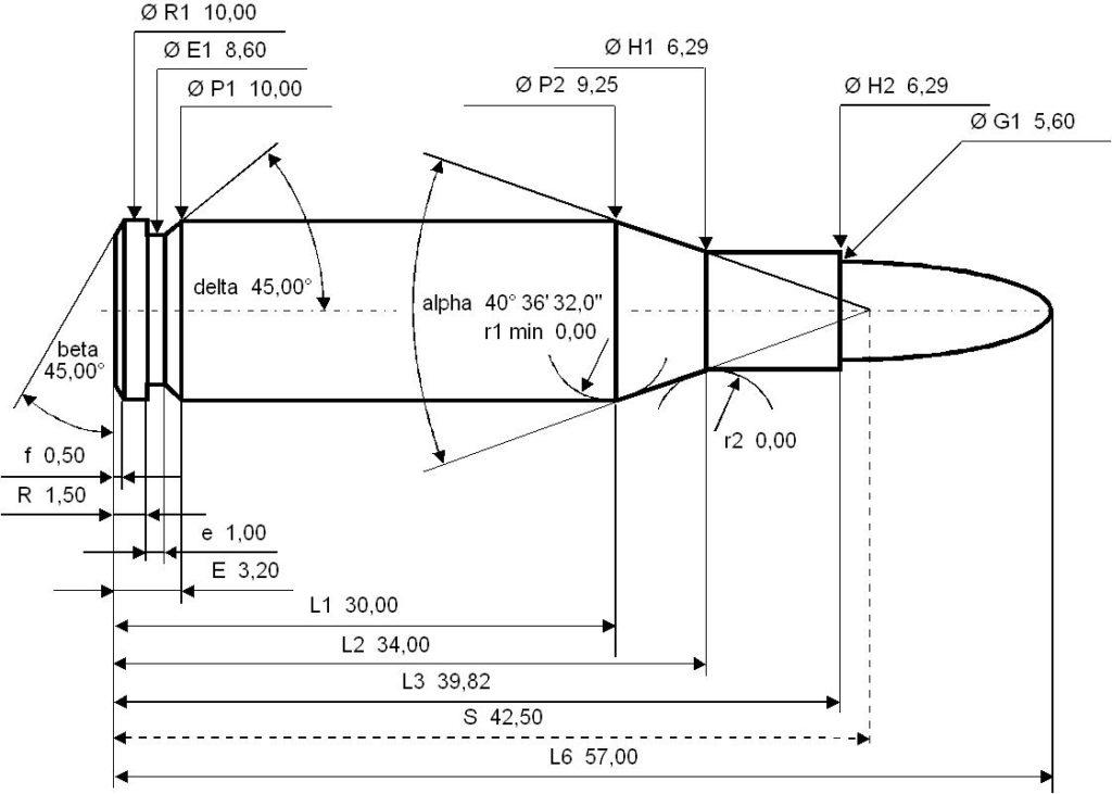 Misure CIP 5,45 x 39 mm