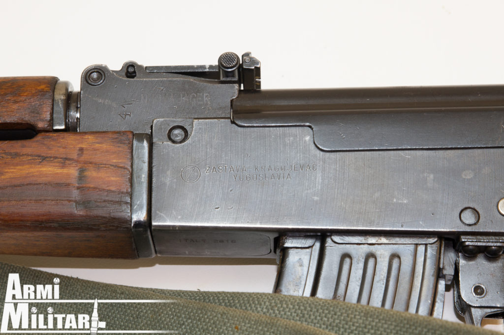 M70.B Particolare del lato sinistro del receiver