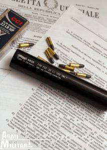 Silenziatore Walter per arma in calibro .22LR